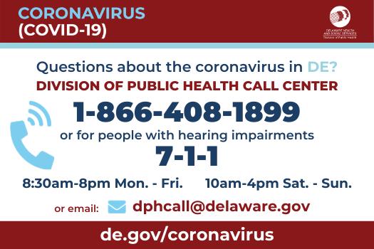 DE Public Health Call Center