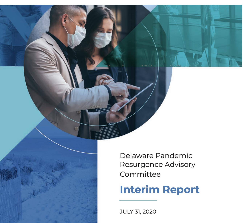 Delaware pandemic advisory committee interim report cover