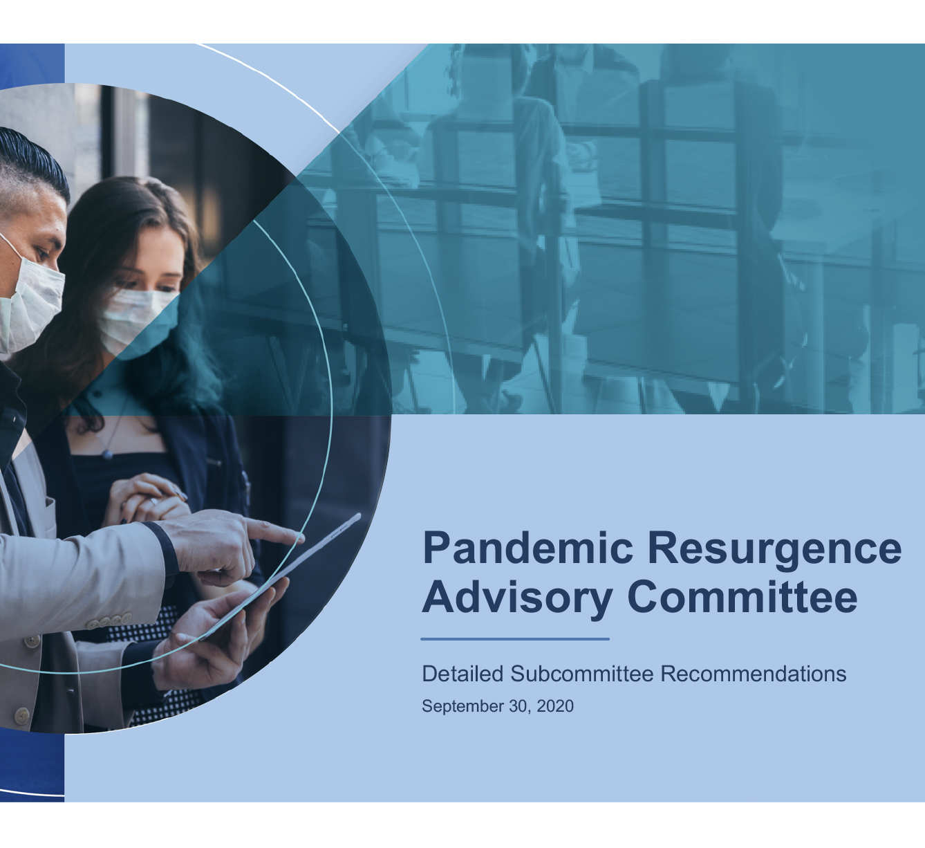 Pandemic Resurgence Advisory Committee Recommendations Cover